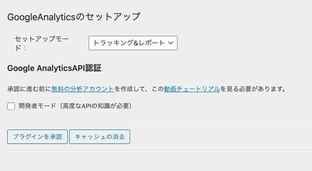 【WordPress】ダッシュボードGAINWPアナリティクスが表示されない-04